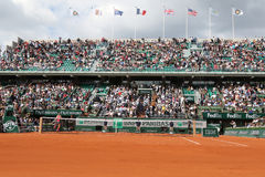 Court Philippe Chatrier at Le Stade Roland Garros during Roland Garros 2015 match Royalty Free Stock Image