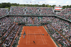 Court Philippe Chatrier at Le Stade Roland Garros during Roland Garros 2015 match Royalty Free Stock Photo