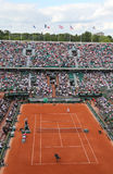 Court Philippe Chatrier at Le Stade Roland Garros during Roland Garros 2015 match. PARIS, FRANCE- MAY 24, 2015: Court Philippe Chatrier at Le Stade Roland Garros Stock Images