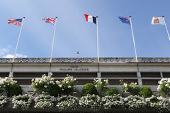 Court Philippe Chatrier at Le Stade Roland Garros during Roland Garros 2015 Royalty Free Stock Images