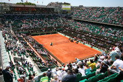 Court Philippe Chatrier of Roland Garros 2011 stock images