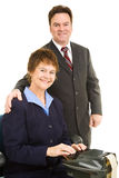 Court Reporter and Attorney Stock Photography