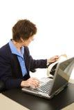 Court Reporter Transcribing Stock Photo