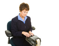 Court Reporter Working stock photo