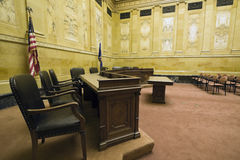 Court Room. In Madison, Wisconsin royalty free stock image