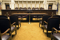 Court Room. In State Capitol Building - Madison, Wisconsin royalty free stock photography