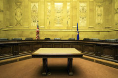 Court Room. In State Capitol Building - Madison, Wisconsin royalty free stock photo