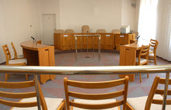 Court room. A view to an empty court room Royalty Free Stock Image