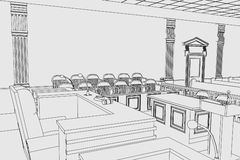Court room Royalty Free Stock Images