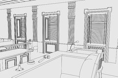 Court room. Cartoon image of court room Royalty Free Stock Photo