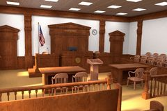 Court room Stock Photography