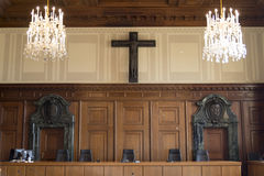 The court room of the Nuremberg trials Stock Images
