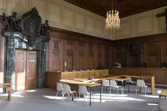 The court room of the Nuremberg trials Stock Photography