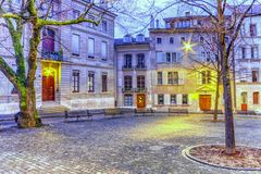 Court Saint-Pierre in the old city, Geneva, Royalty Free Stock Images