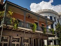 Court suprême et balcon de la Louisiane Image libre de droits