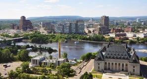 Court suprême et Gatineau, Ottawa Photos libres de droits