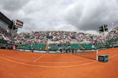 Court Suzanne Lenglen at Le Stade Roland Garros during second round match at Roland Garros 2015 Royalty Free Stock Images