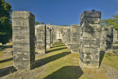 Court of the Thousand Columns at Chichen Itza, Mayan Ruins in the Yucatan Peninsula, Mexico Royalty Free Stock Image