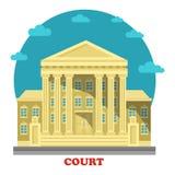 Court or tribunal, courthouse entrance exterior Royalty Free Stock Photos