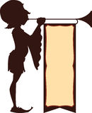 Court Trumpeter Illustration Royalty Free Stock Images