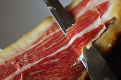 Court of a typical Jamon Iberico ham from Spain. Picture of the court of a typical Jamon Iberico ham from Spain Stock Photos