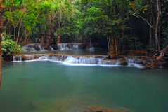 Court  waterfall. Court of waterfall in thailand Royalty Free Stock Photo