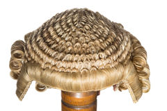 Court wig isolated Stock Photo