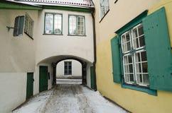 Court yard  in Tallinn. Court yard of Holy Spirit Church in Tallinn Royalty Free Stock Images