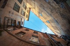 Court yard-well in Saint-Petersburg Stock Image