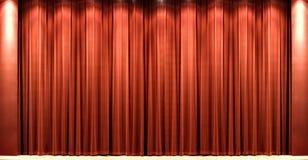 Courtain rosso del teatro del velluto Immagini Stock Libere da Diritti