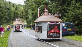 Courtepaille husvagn - Le-Tour de France 2014 Royaltyfria Bilder