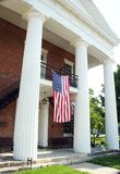 Courthouse. Patriotic courthouse in a small town Stock Photo