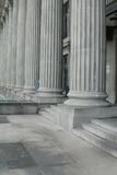Courthouse. With traditional pillars of justice made of stone Stock Photo