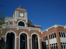 Courthouse angle view. Angle view of county courthouse Royalty Free Stock Photography