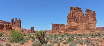 The Courthouse At Arches National Park Royalty Free Stock Photo
