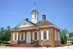 Courthouse of British Colony, Williamsburg Royalty Free Stock Image