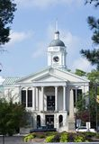 Courthouse building. White courthouse building showing neoclassic architecture located in Aiken, South Carolina Stock Photo