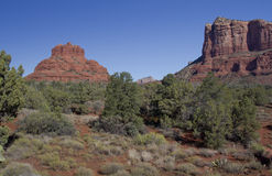 Courthouse Butte and Bell Rock Sedona Stock Photos