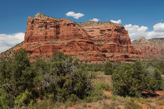 Courthouse Butte in Coconino National Forest Stock Photos