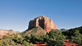 Courthouse Butte in Sedona, Arizona stock video footage