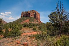 Courthouse Butte in Sedona Stock Photo