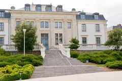 Courthouse of the city of Les Sables d`Olonnes royalty free stock photos