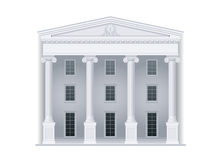 Courthouse in classic style Royalty Free Stock Photo