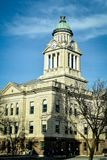 Courthouse Clock Tower Dome - Decorah, Iowa Royalty Free Stock Photo