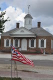 Courthouse in Colonial Williamsburg, Virginia Stock Photos