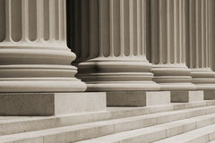 Courthouse Columns Royalty Free Stock Photos
