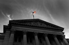 Courthouse with Flag Stock Images