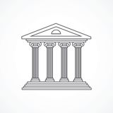 Courthouse icon Royalty Free Stock Image