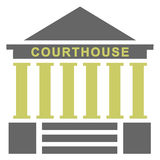 Courthouse illustration Royalty Free Stock Photo