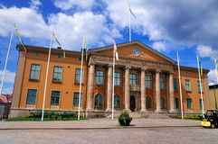 Courthouse of Karlskrona, Sweden. The courthouse in Karlskrona, Sweden, situated on the central square called Stortorget Royalty Free Stock Photography